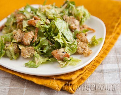 салат цезарь рецепт с фото пошагово с курицей