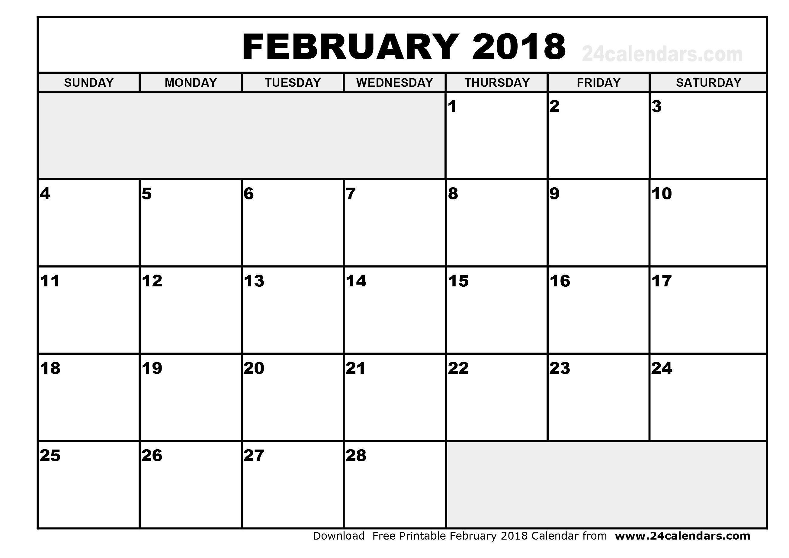 free calendar template 2018 excel