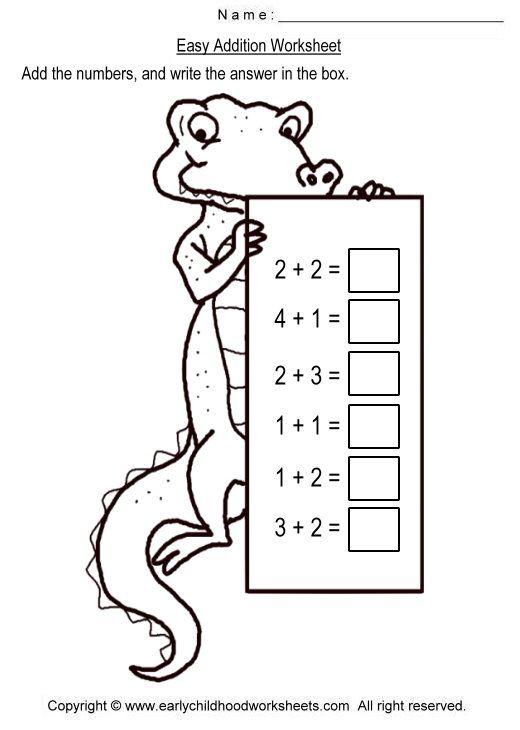 Easy Addition Worksheets Matek 1 Osztly Pinterest Worksheets