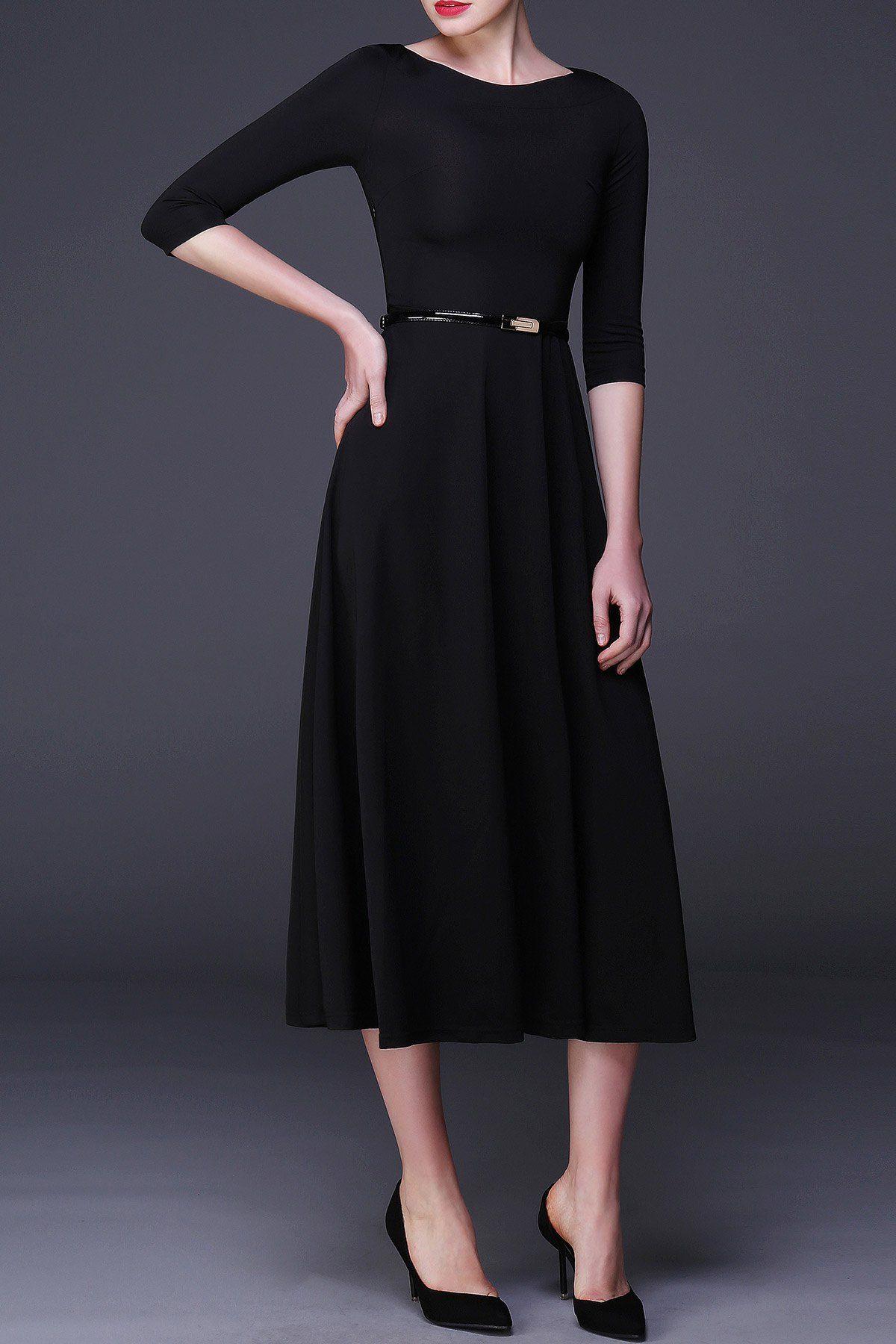 36++ Black three quarter sleeve dress info