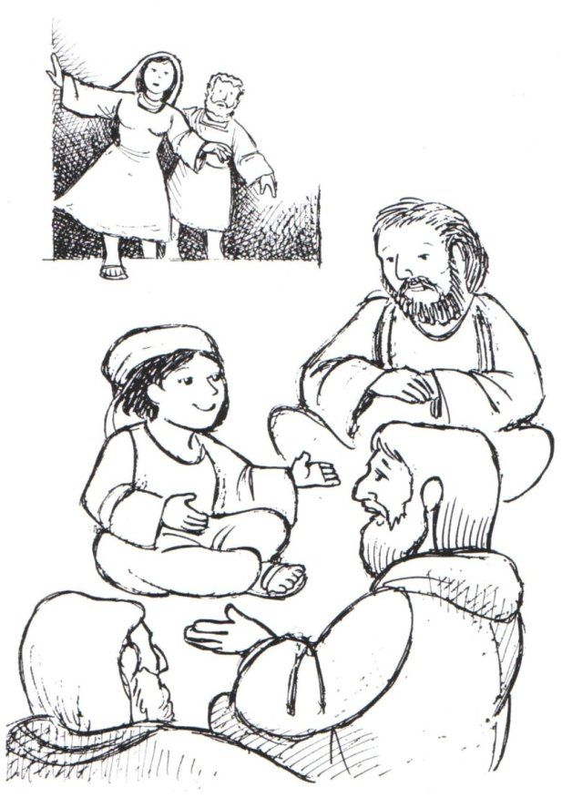 mary and joseph find Jesus teaching in the temple