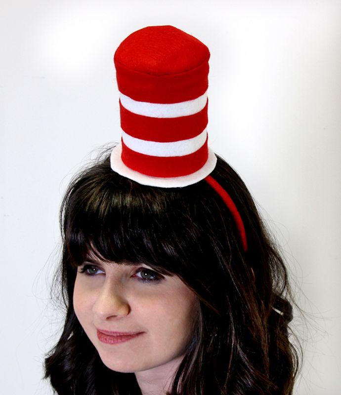diy cat in the hat costume mini top hat - Cat In The Hat Halloween Costume Ideas