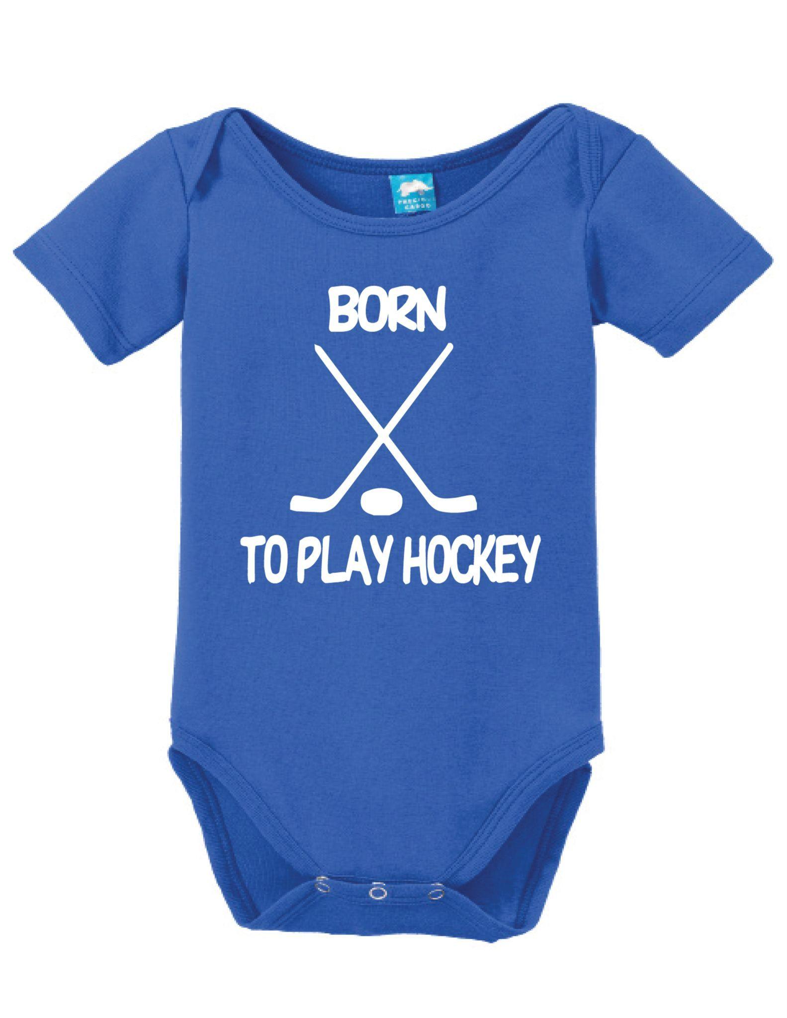 37ffa38b5 Born To Play Hockey   Hockey   Pinterest   Hockey, Baby bodysuit and ...
