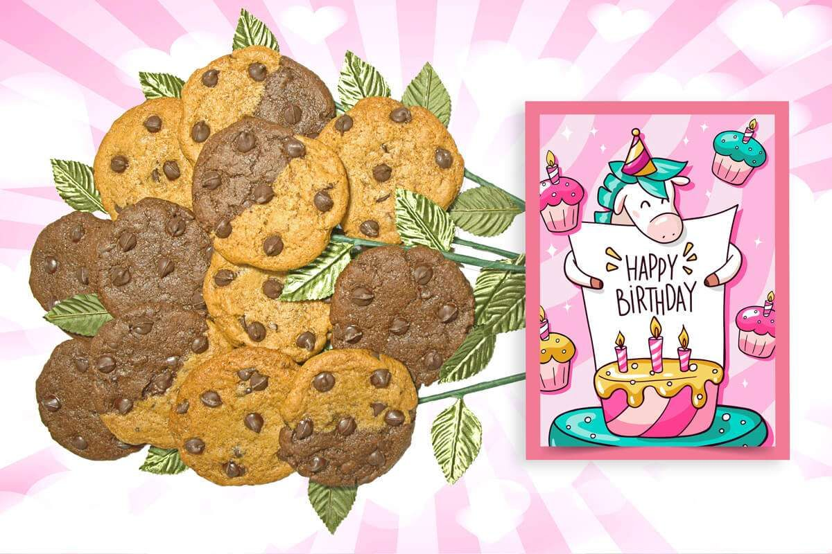 Pony Birthday Cookie Bouquet Long Stem Cookie Bouquets