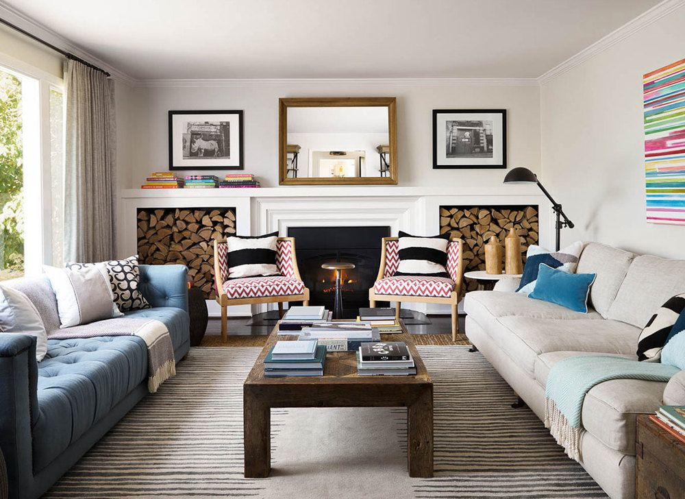 VIBRANT- Make 2 different sofas work together by having ...
