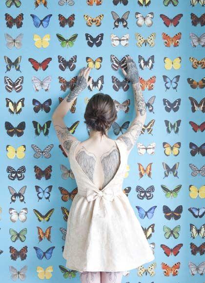 vlinderbehang