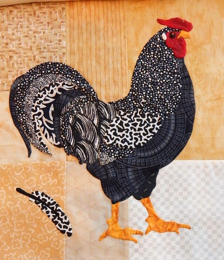 All Gussied Up Rooster Toni Whitney Fusible Applique Quilting Quilt Pattern