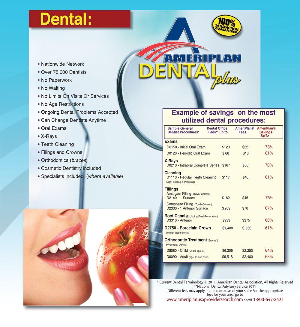 AmeriPlan Dental Plus Product Dental insurance plans