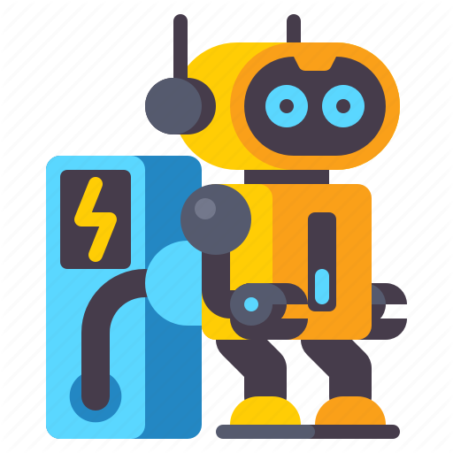 Battery Charging Robot Icon Download On Iconfinder Robot Icon Icon All Icon
