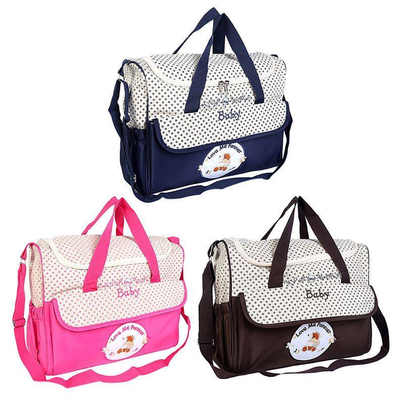 eaf84fee89 $18.99 AUD - Baby Nappy Changing Bag Set Diaper Bags Mat Mummy Shoulder  Handbag Stroller Dot #ebay #Home & Garden
