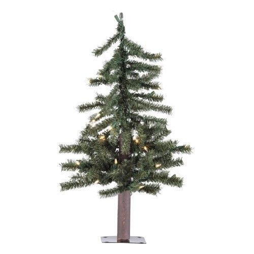 Vickerman Natural Alpine Slim Pre-lit Christmas Tree, As Shown Pre