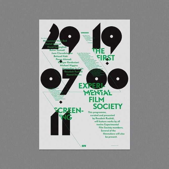 See how poster pro @pouyahmadi turns fictional characters into typographic ones in this strong set of posters for Experimental Film Society >>eyeondesign.aiga.org<< #graphicdesign #posterdesign by aigadesign