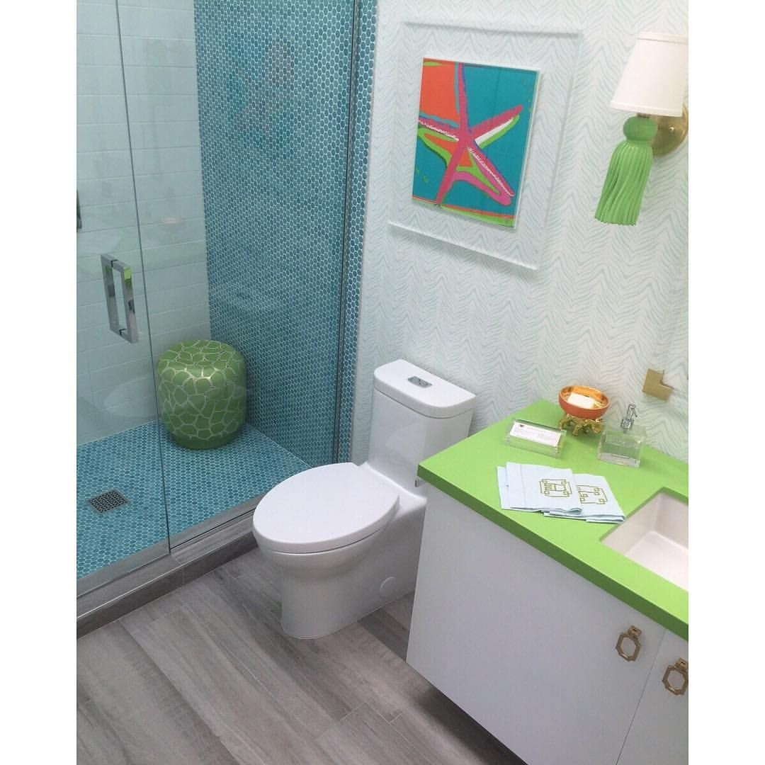 Aequa cirrus wood look porcelain tile is the perfect neutral floor aequa cirrus wood look porcelain tile is the perfect neutral floor for this playful teen bath at christopher kennedy compound thank you trellisho dailygadgetfo Images