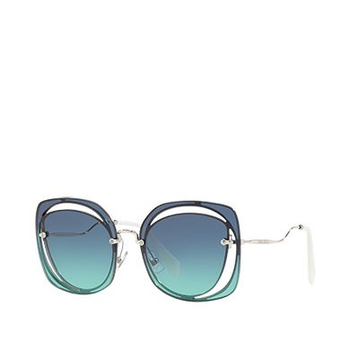 758f8343b13 Miu Miu Scénique eyewear with cut-out MiuMiu BLUE TO TURQUOISE GRADIENT  LENSES  sunglasses  luxury