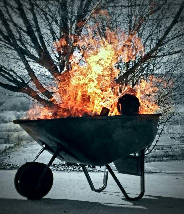 Wheelbarrow Time Wheelbarrow Wheelbarrowfirepit Firepit