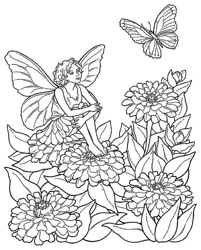 Disegni da colorare fantasia 6 education pinterest - Libri da colorare di fiori ...