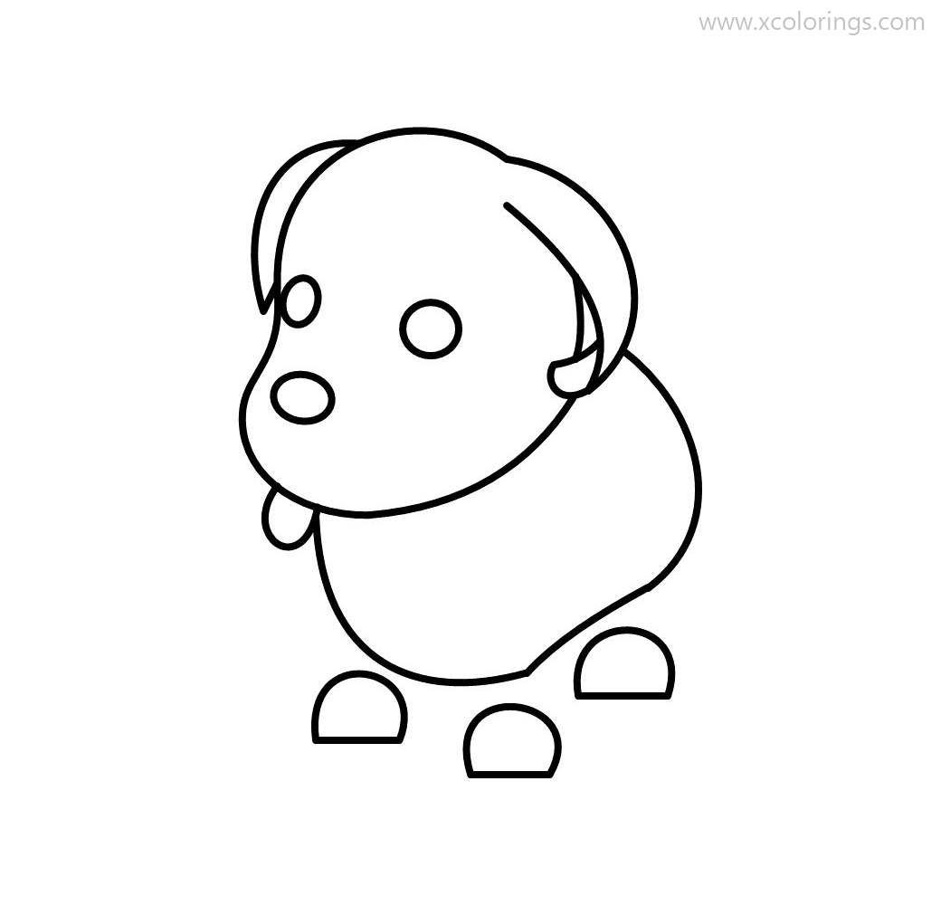 Roblox Adopt Me Coloring Pages Blue Dog Pets Drawing Coloring Pages Cute Food Drawings