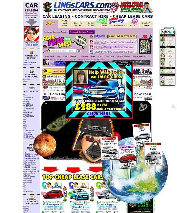 Web design masterpiece: http://www.lingscars.com/