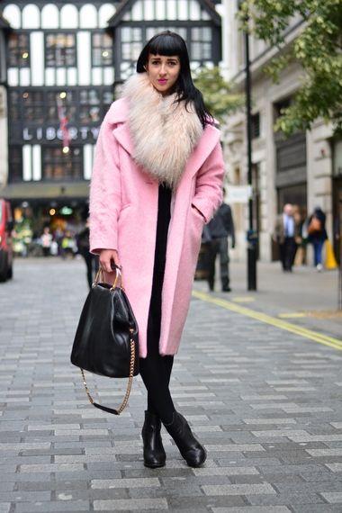 Pink Coat | Women's Look | ASOS Fashion Finder | Street Style ...