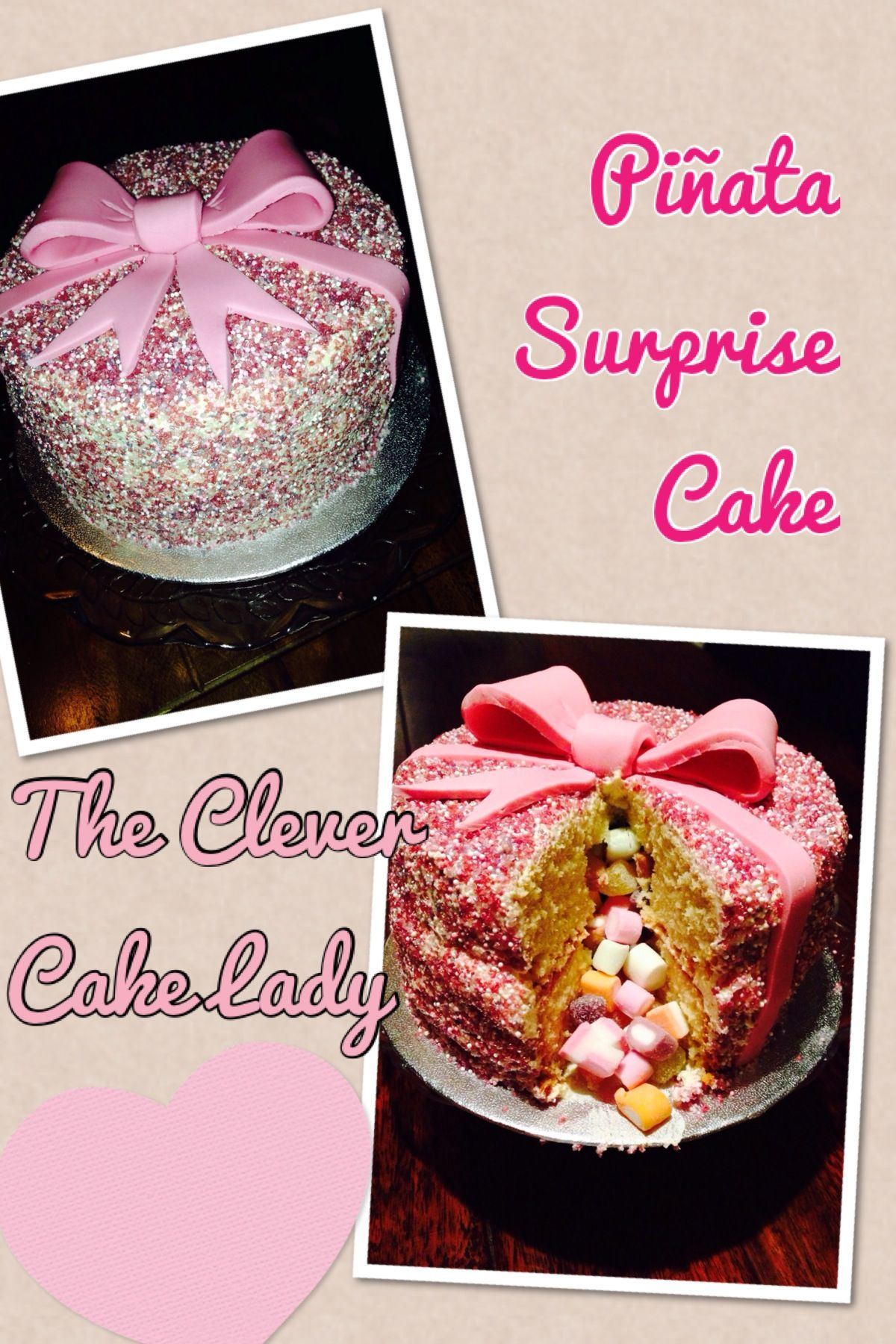 Pinata Surprise Inside Cake Sponge Cake Layered With