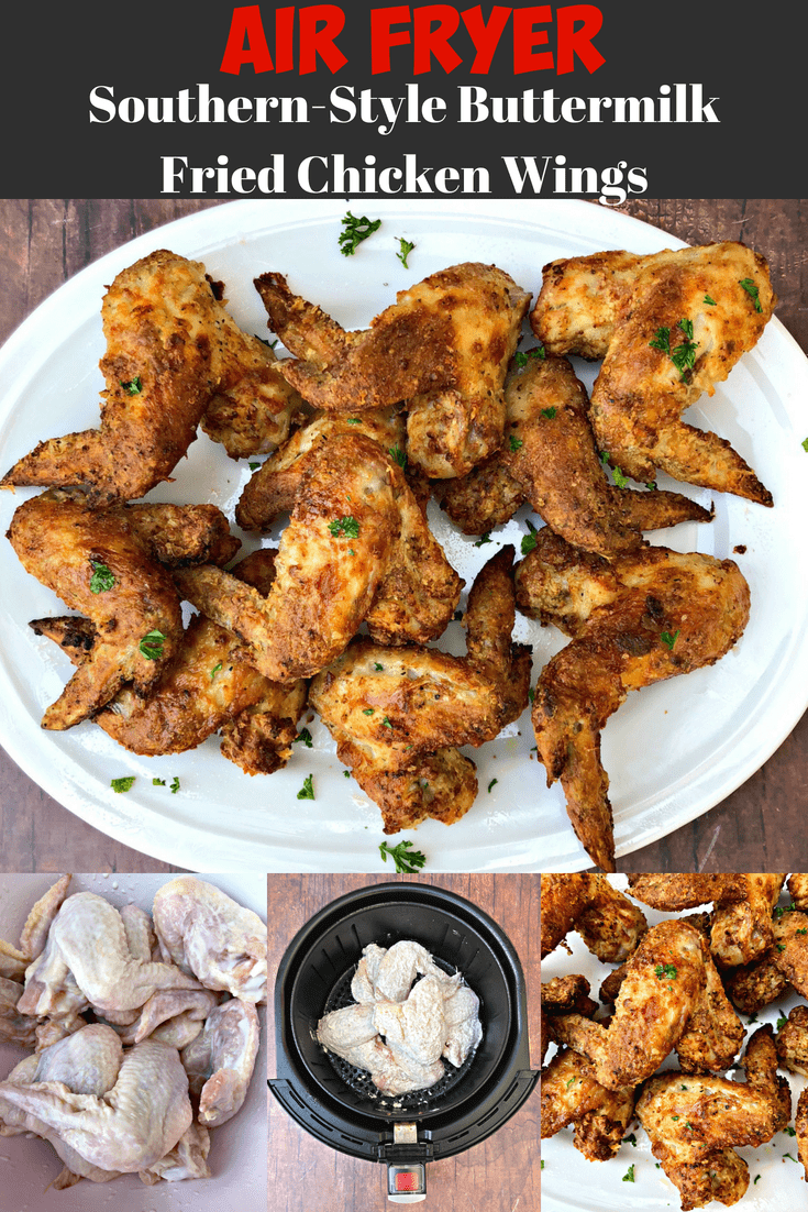 Air Fryer Traditional Southern Soul Food Buttermilk Fried Chicken Is A Quick And Southern Recipes Soul Food Buttermilk Fried Chicken Air Fryer Recipes Chicken
