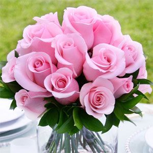 Light pink roses for wedding centerpieces look so elegant and romantic! | Light pink rose, Pink ...