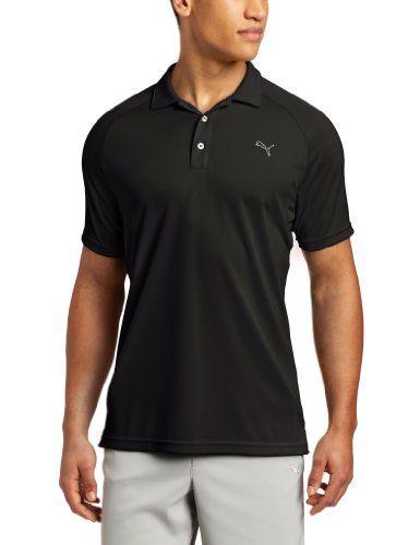 2170b92e Puma Golf NA Men's Raglan Tech Polo Tee, Black, Large, Online Clothing Store