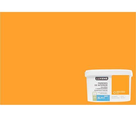 Pintura de color para paredes y techos luxens naranja - Pintura color vainilla ...