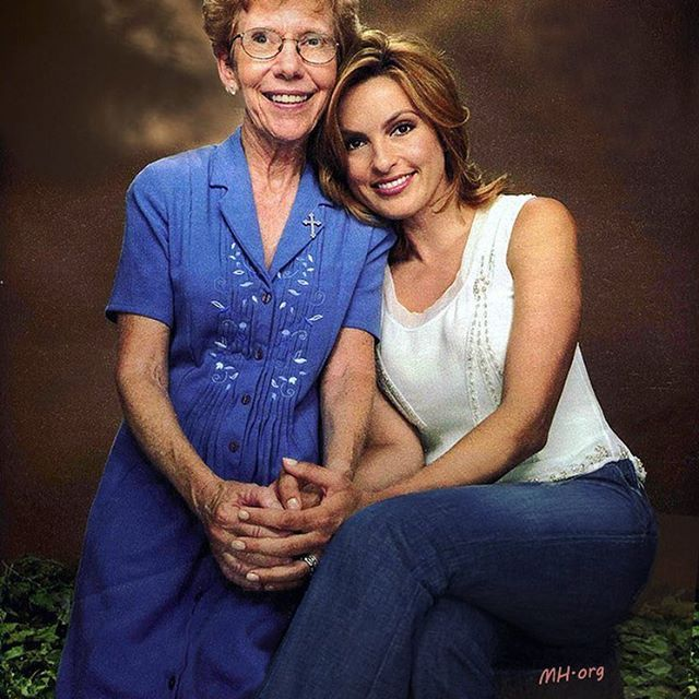 One last picture of Mariska and Sister Margaret because ...
