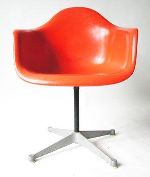 Herman Miller Orange Eames Chair Vintage Herman Miller Chair Eames Unusual Furniture Chair