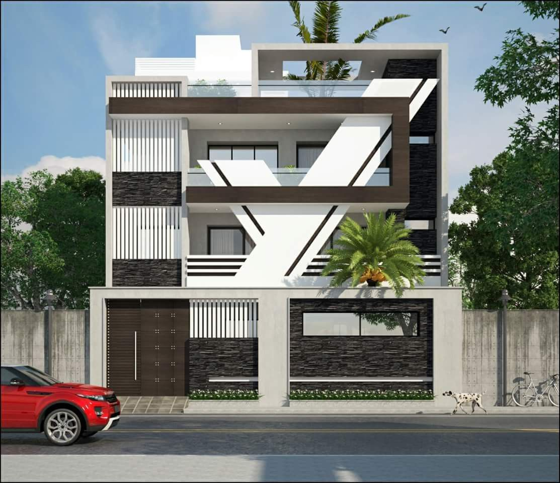 Modern House Front Elevation Designs: Pin By Mohamed Tausif On Awesome House Design Ideas
