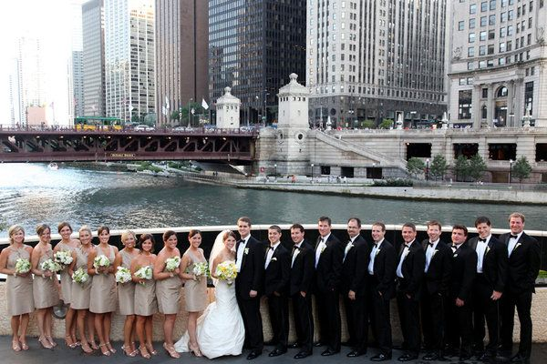 Beautiful wedding party in Chicago.
