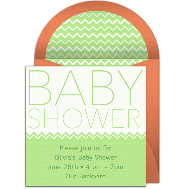 Free baby shower headline invitations stopboris Gallery