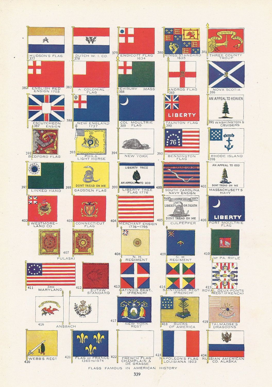 Flag Print Patriotic Flags Famous In American History