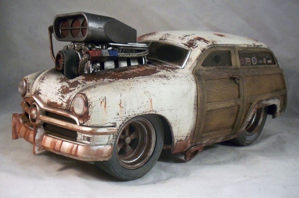 1950 Ford Woody Muscle Machine Barn Find Weathered Drag Rat Rod 1 ...