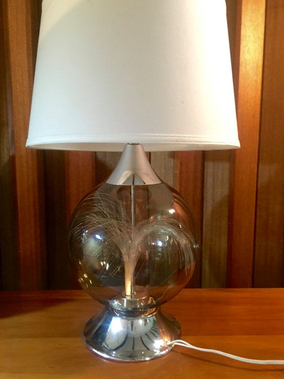 Mid Century Modern Large Smoked Glass Globe By Offcentermodern Lamp Smoked Glass Glass Globe