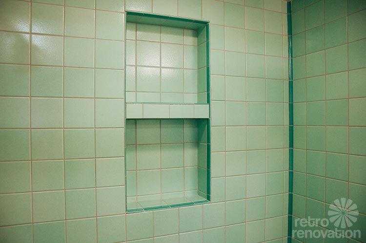 Rebeccas mid century bathroom remodel using Nemo tiles mud set