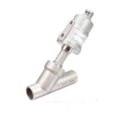 263.99$  Buy here - http://ali5x0.shopchina.info/1/go.php?t=32639038024 - 2 1/2  inch  2/2 Way single acting stainless steel pneumatic angle seat valve 90mm actuator  #magazine
