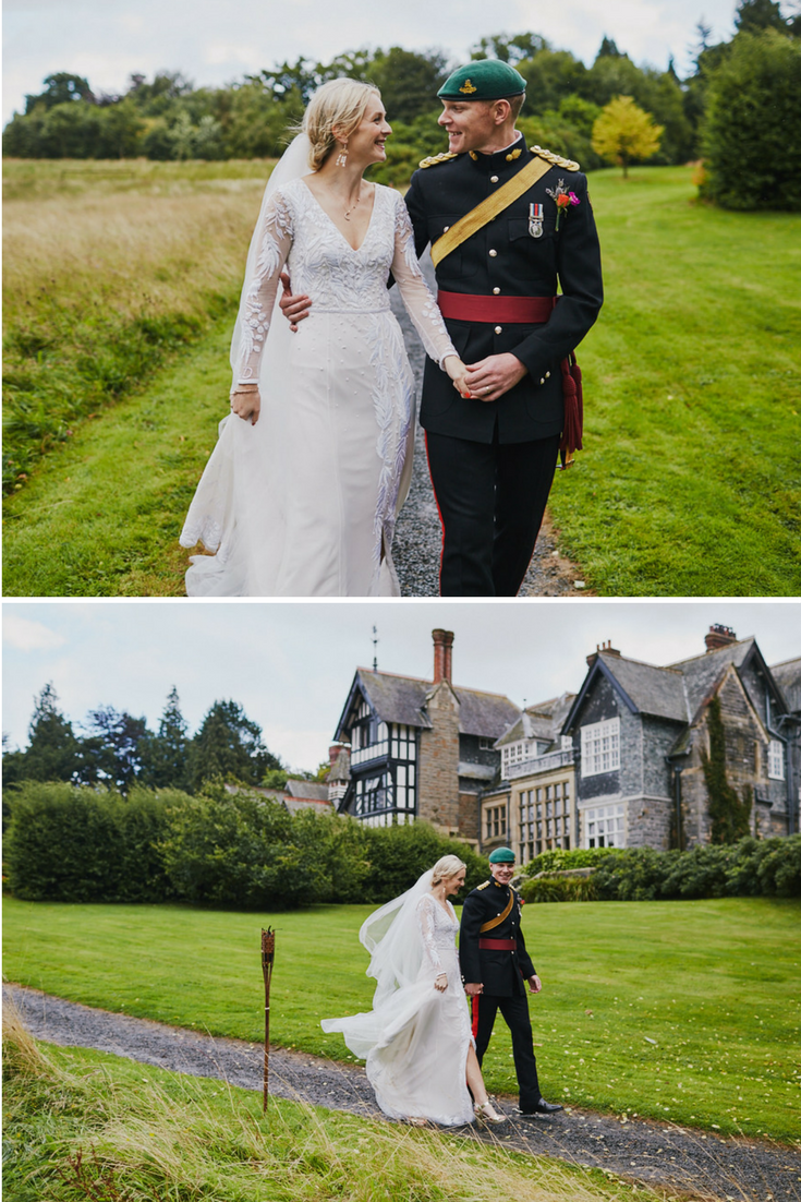 English wedding bride and groom in northernwales photo by liron