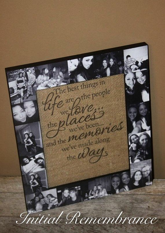 Best Friend Frame Best Friend Gift Picture Frame Collage Photo