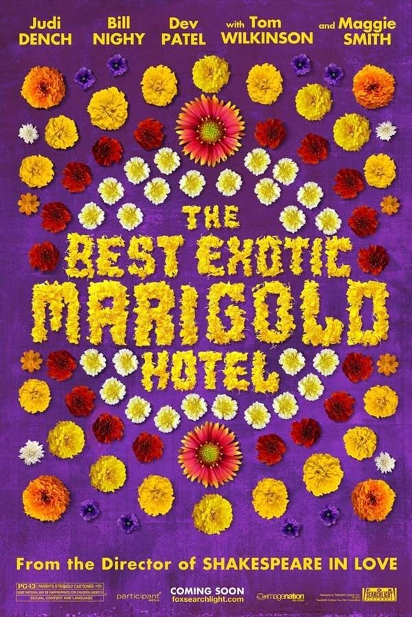 The Best Exotic Marigold Hotel (2012) - An all-star British cast is sent to India to start over. Well acted, heartfelt and fun. Not too heavy and pretty predictable but it's nice to go on a ride with these characters.