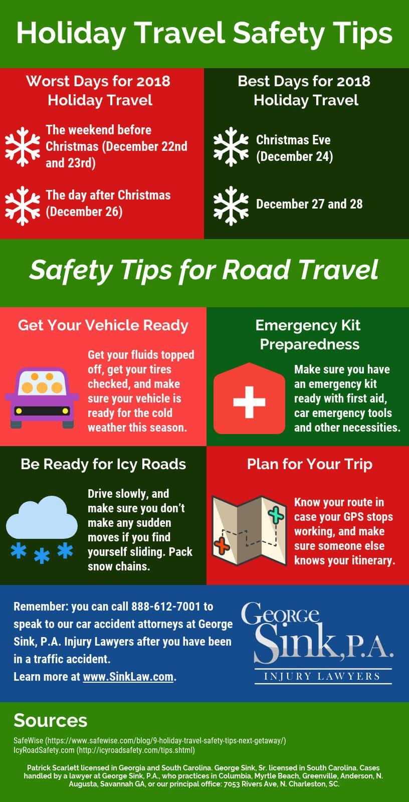 South Carolina Safety Tips for Holiday Driving Holiday