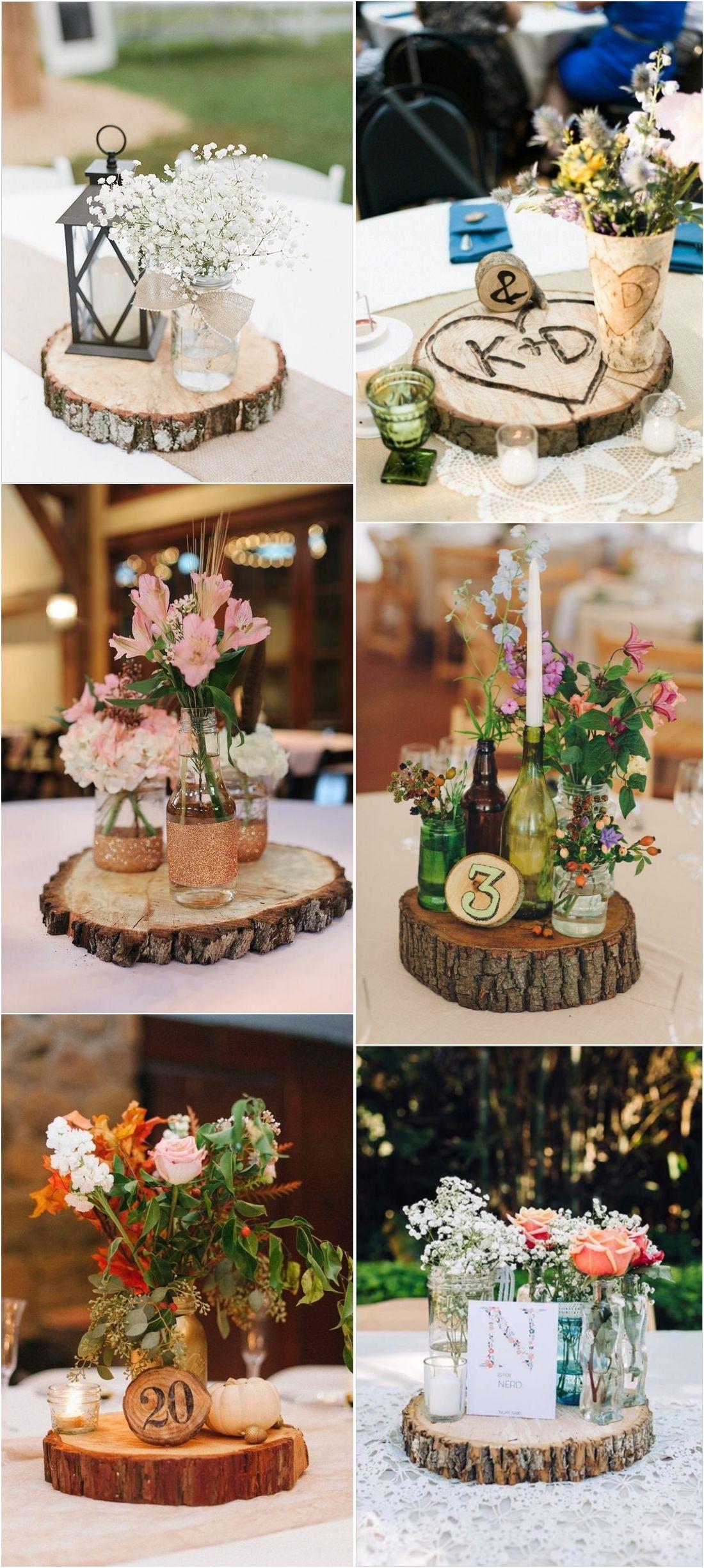 Rustic Woodsy Wedding Trend 2018 Tree Stump Woodsy Wedding