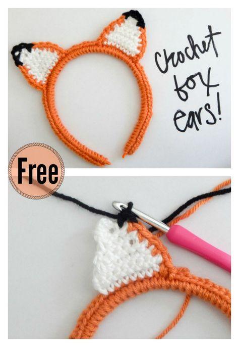 10+ Crochet Fox Patterns - Page 2 of 3 | Tejido, Ganchillo y Comida ...