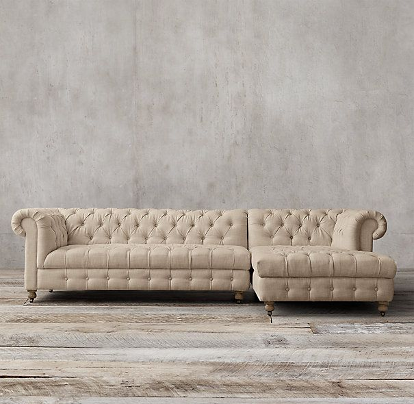 Cambridge Upholstered Right Arm Sofa Chaise Sectional