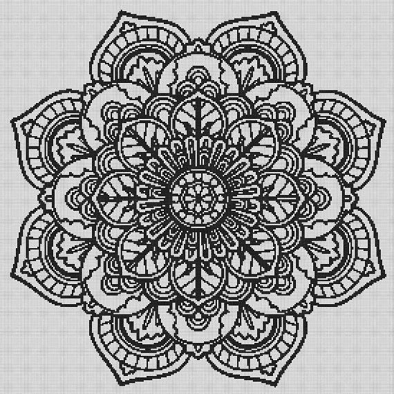 mandala cross stitch mandala