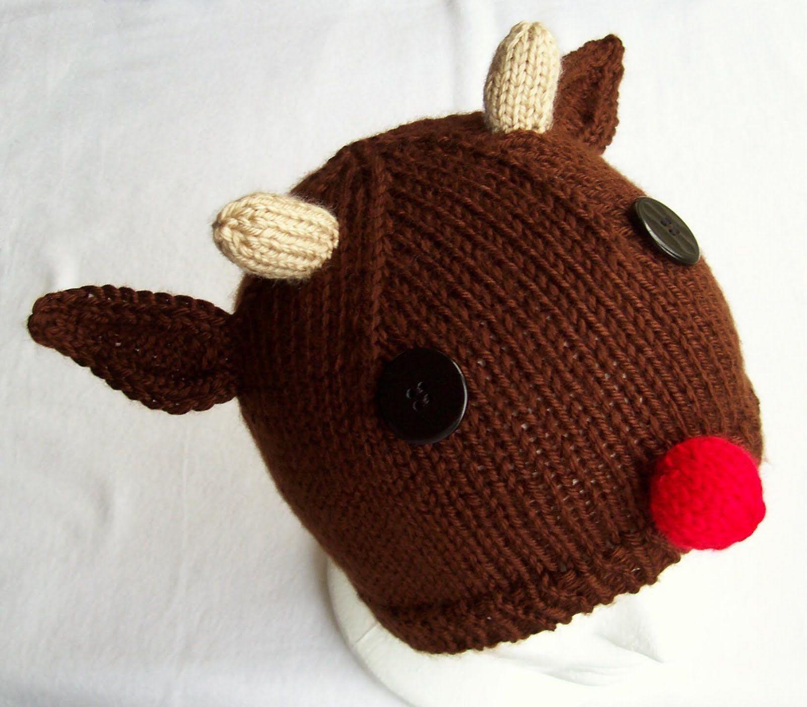Carissa Knits: Rudolph Hat...FREE PATTERN | Knitting | Pinterest ...