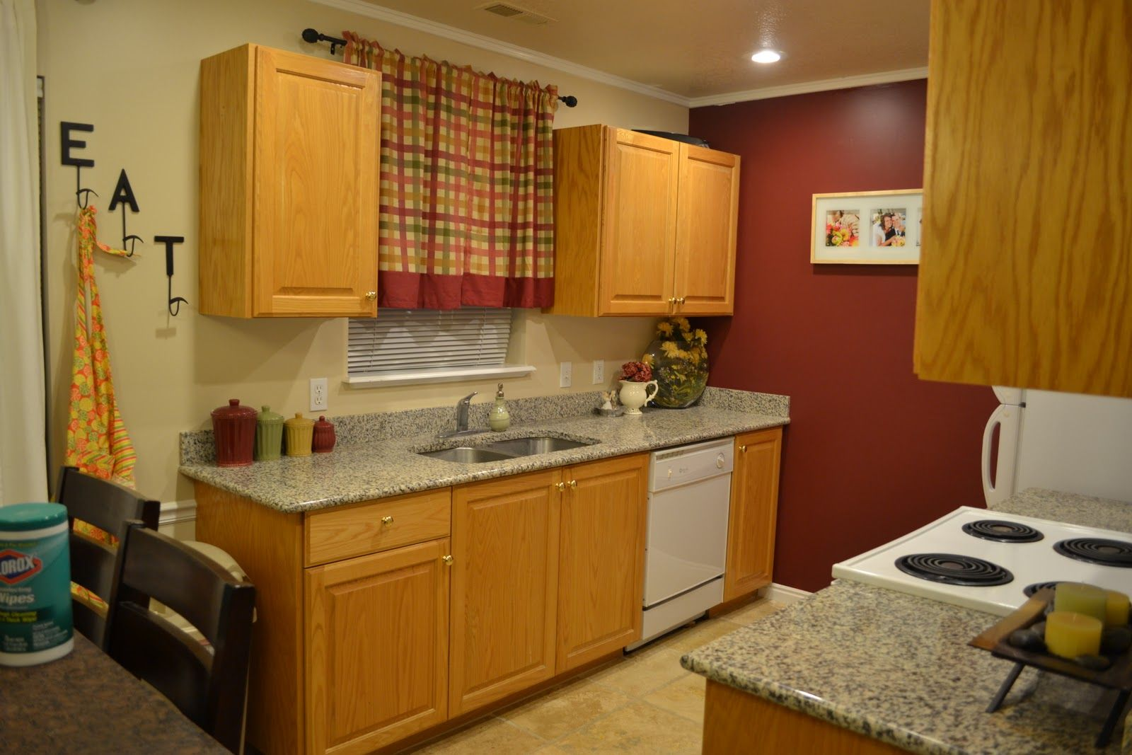 what color walls with honey oak cabinets - Google Search | kitchen ...