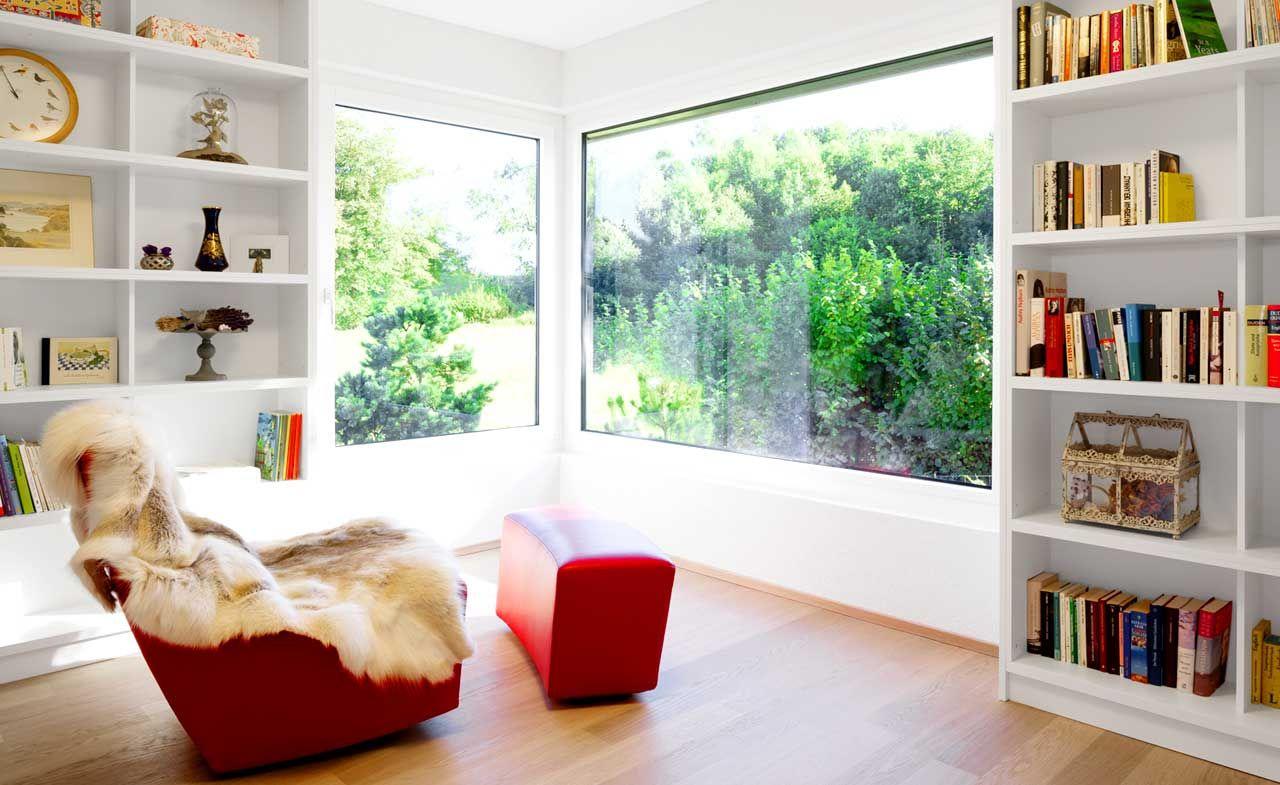 Fenster ums Eck  Wohnzimmermöbel, Eckfenster, Wohnzimmer
