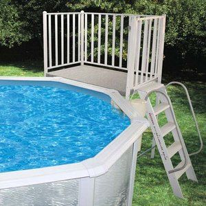 Free-Standing Pool Deck | Swimming pool decks, Above ground ...